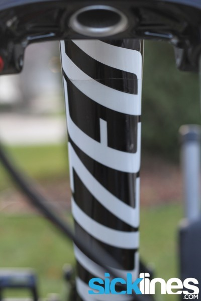 2013 Specialized Status II downtube protector
