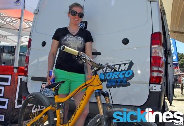 , Jill Kintner's Sea Otter Downhill Bike – Norco Sight 27.5 Carbon Prototype