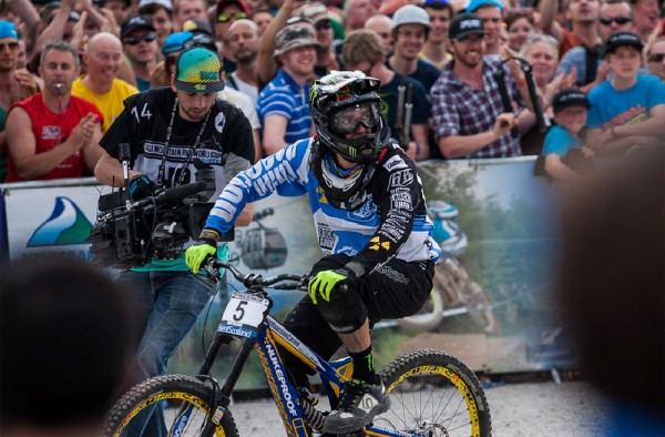 Sam Hill at the 2013 Ft William World Cup photo: Fraser Britton/Chain React