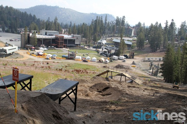 Mammoth Mountain CA - Dual Slalom and Speed and Style course shaping up