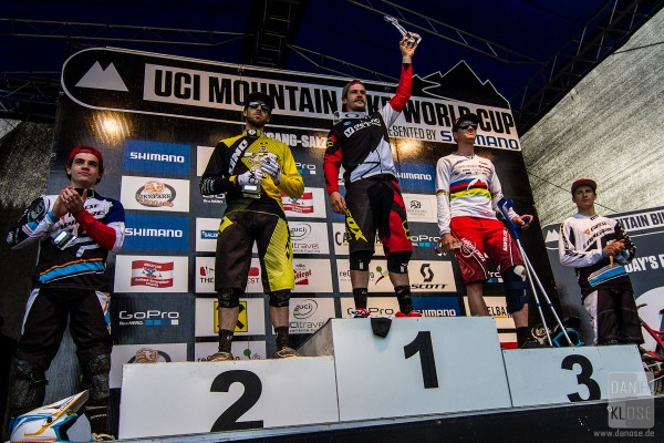 Pro Men UCI DH Overall Podium Finals 2013