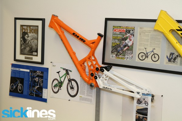 Turner Bikes Facility Tour DHR Prototype
