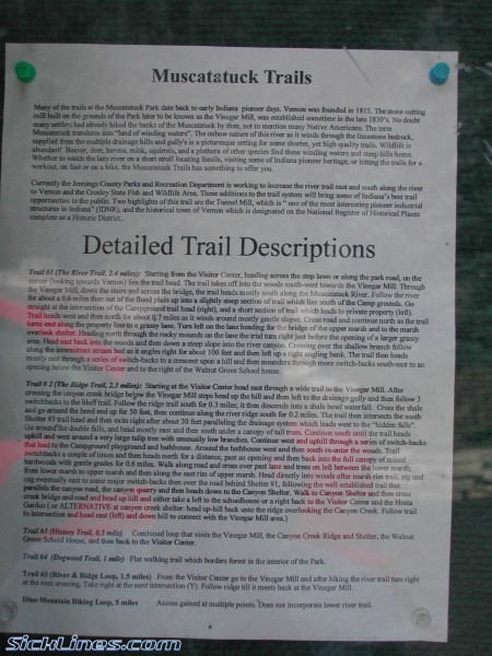 Muscatatuck trail descriptions