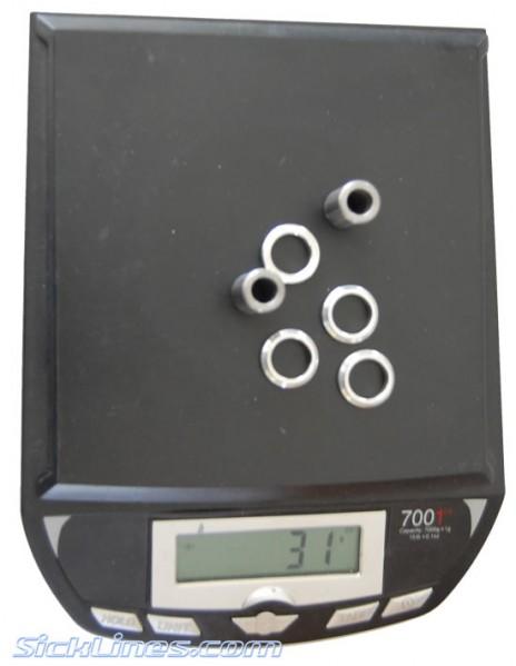 Elka 8 x 22mm Shock Hardware