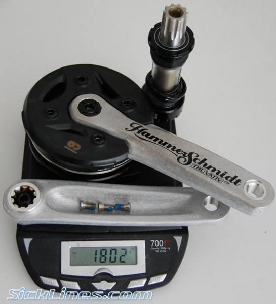 Complete Truvativ Hammerschmidt FR 22t iscg 73mm setup