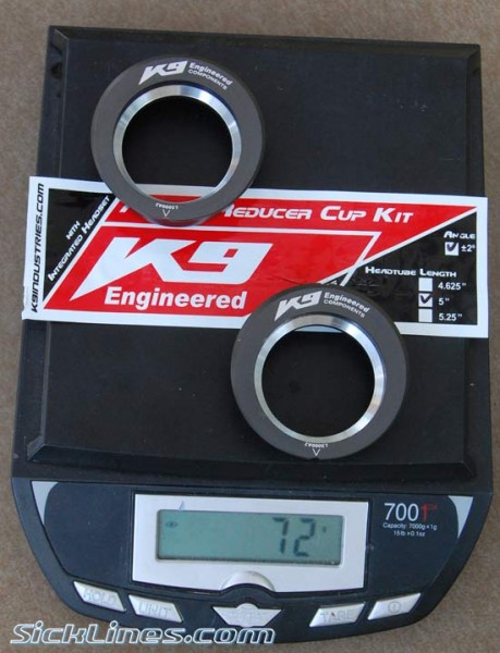 K9 Industries Headset 1.5 Angle Reducing Cups 2degree