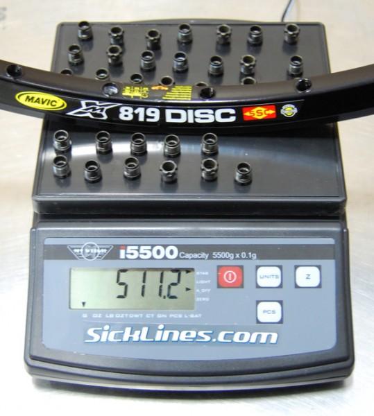 Mavic XM 819 with eyelets 32h rim