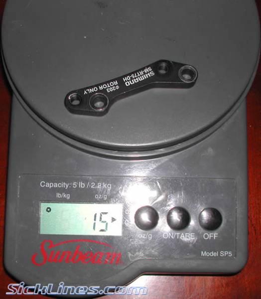 "Shimano Boxxer 8"" IS disc brake adapter"