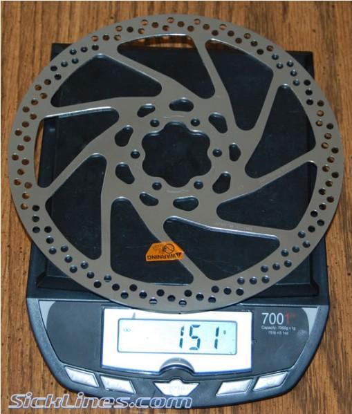 Shimano Disc Brake Rotor RT75MA 180mm XT / Saint