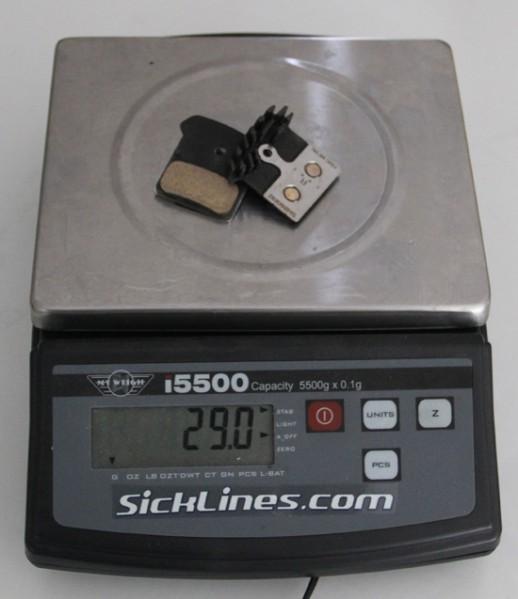 2011 Shimano XTR icetech metallic brake pads