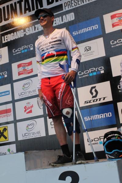 Greg Minnaar - Injury Leogang 2013