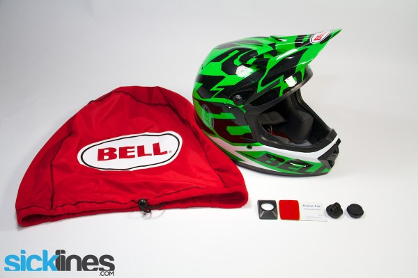 2014 Bell Transfer 9 Downhill Helmet Contents with Helmet Camera Mounting