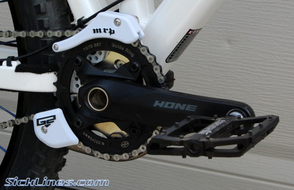 MRP Mini-G and Hope crankset with Corsair pedals