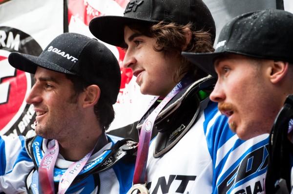 Pro Men Podium - Danny Hart, Duncan Riffle, Andrew Neethling, 2011 Pro GRT