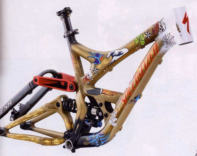 2007 Specialized Demo 7 Tattoo Frame - Sick Lines – mountain bike